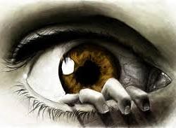 Olho arregalado demonstrando medo